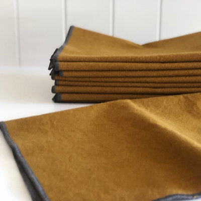 Adelene Simple Cloth Sturdy Girl Ochre Stonewashed Napkins