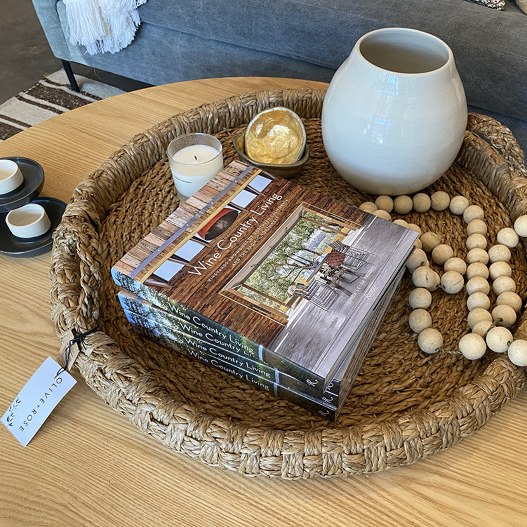 """Creative Co-Op 29"""" Round Braided Bangkuan Tray"""