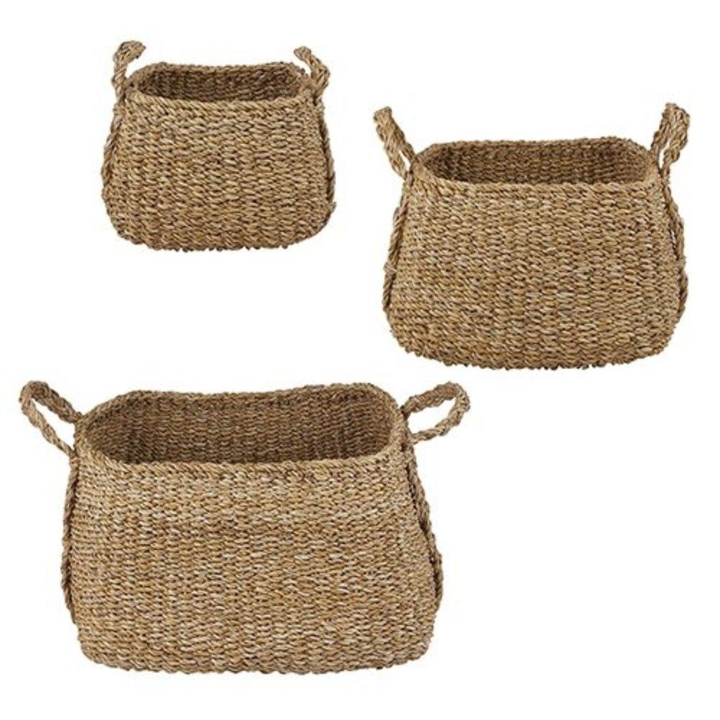 Creative Brands Large Square Basket W/Handles, Set of 3