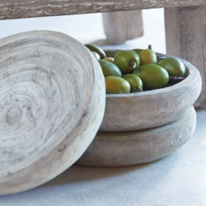 "Creative Brands Paulownia Bowl- 6"" Grey"