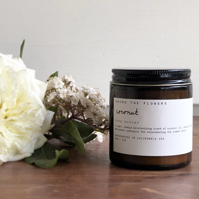 Among the Flowers Among the Flowers, Coconut Body Butter, 4 oz.