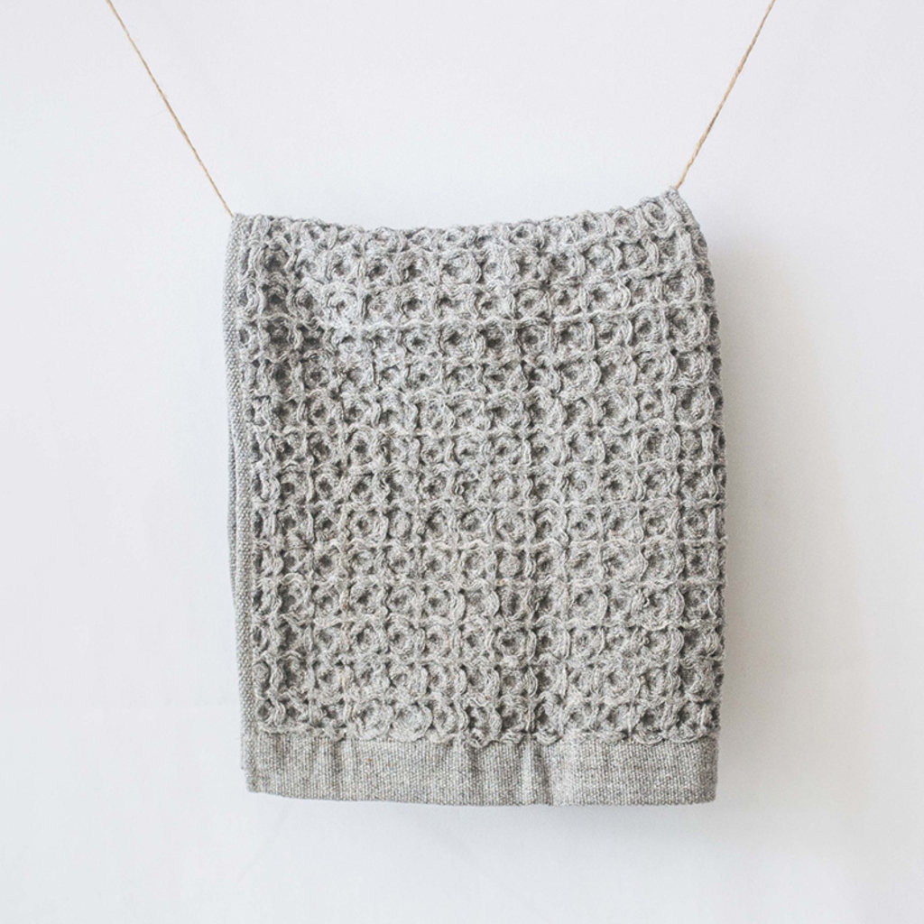 KONTEX Kontex Lattice Washcloth- Gray