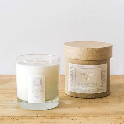 Zoet Bathlatier Lavender & Sage Rustic Candle