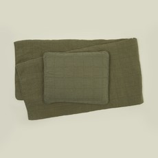 Hawkins New York Simple Linen King Quilt, Olive