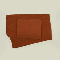 Hawkins New York Simple Linen Quilt, King- Terra Cotta