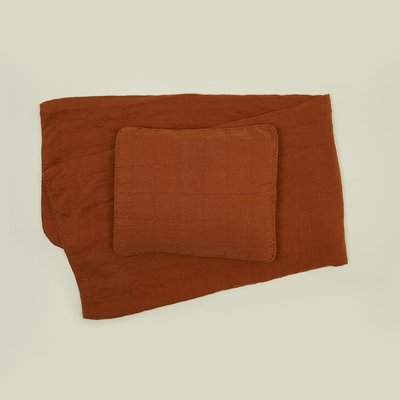 Hawkins New York Simple Linen Quilt, King- Terra Cotta