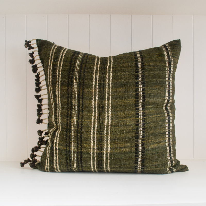 "Filling Spaces Akriti Charcoal 22"" x 22"" Pillow with insert"