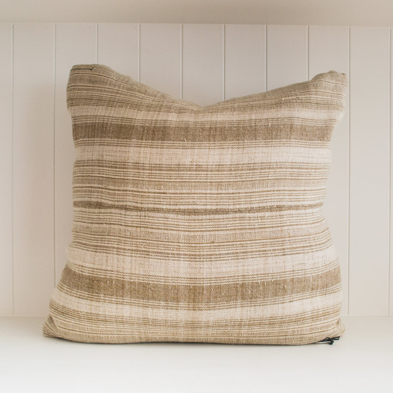 Patine Decor Antique Tibetan Stripe Linen Pillow