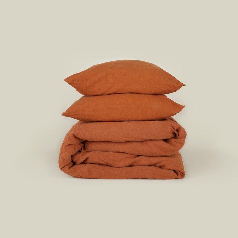 Hawkins New York Simple Linen Pillow Cases, Terracotta