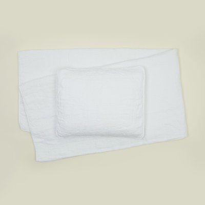 Hawkins New York Simple Linen Quilt, Queen- White