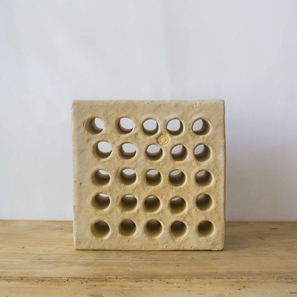 MS Ceramic Design MSCD Bookend Sculpture- Perforated