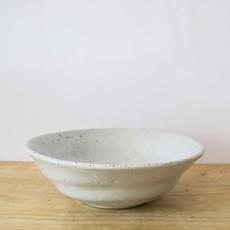 Blue Pheasant Marcus Salt Glaze Pasta/Soup Bowl in White