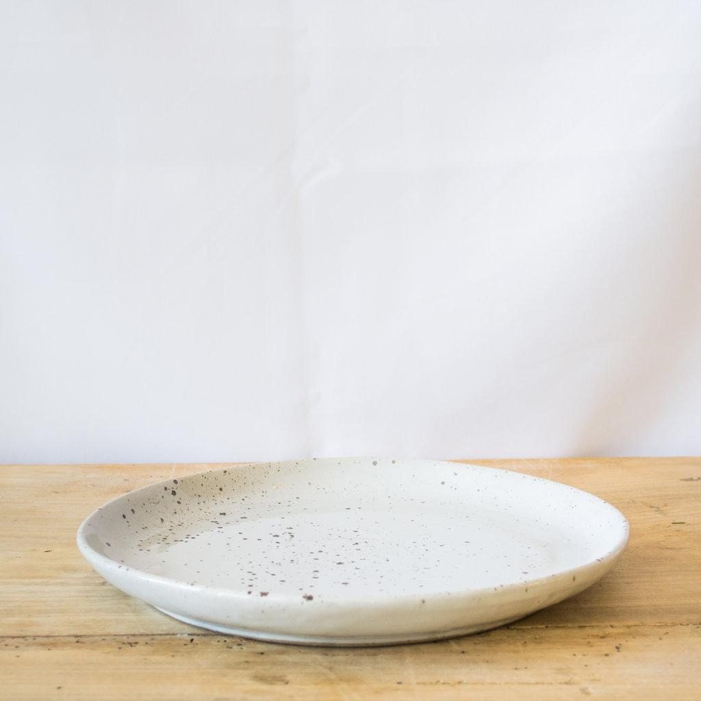 Blue Pheasant Marcus White Salt Glaze Dinner Plate