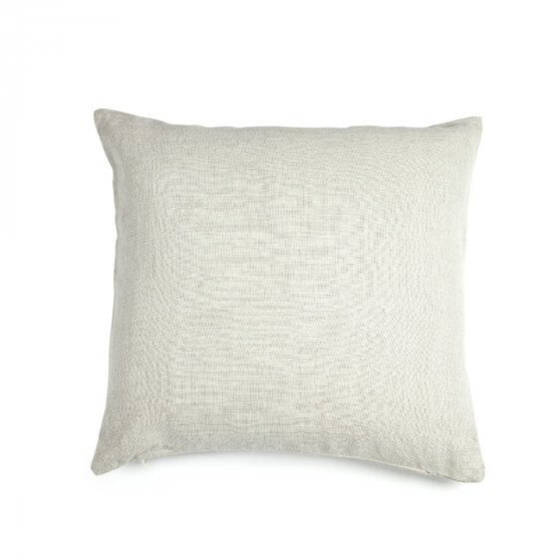 "Libeco 25""x25"" Re Linen Pillow Silver with insert"