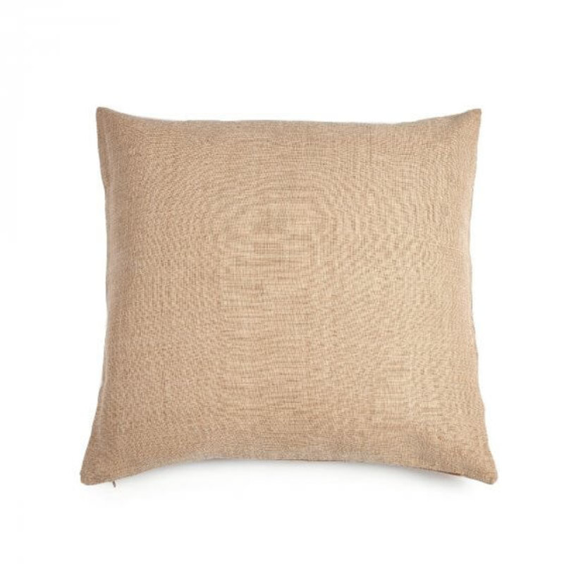 "Libeco 25"" x 25"" Re Linen Pillow Apricot with Insert"