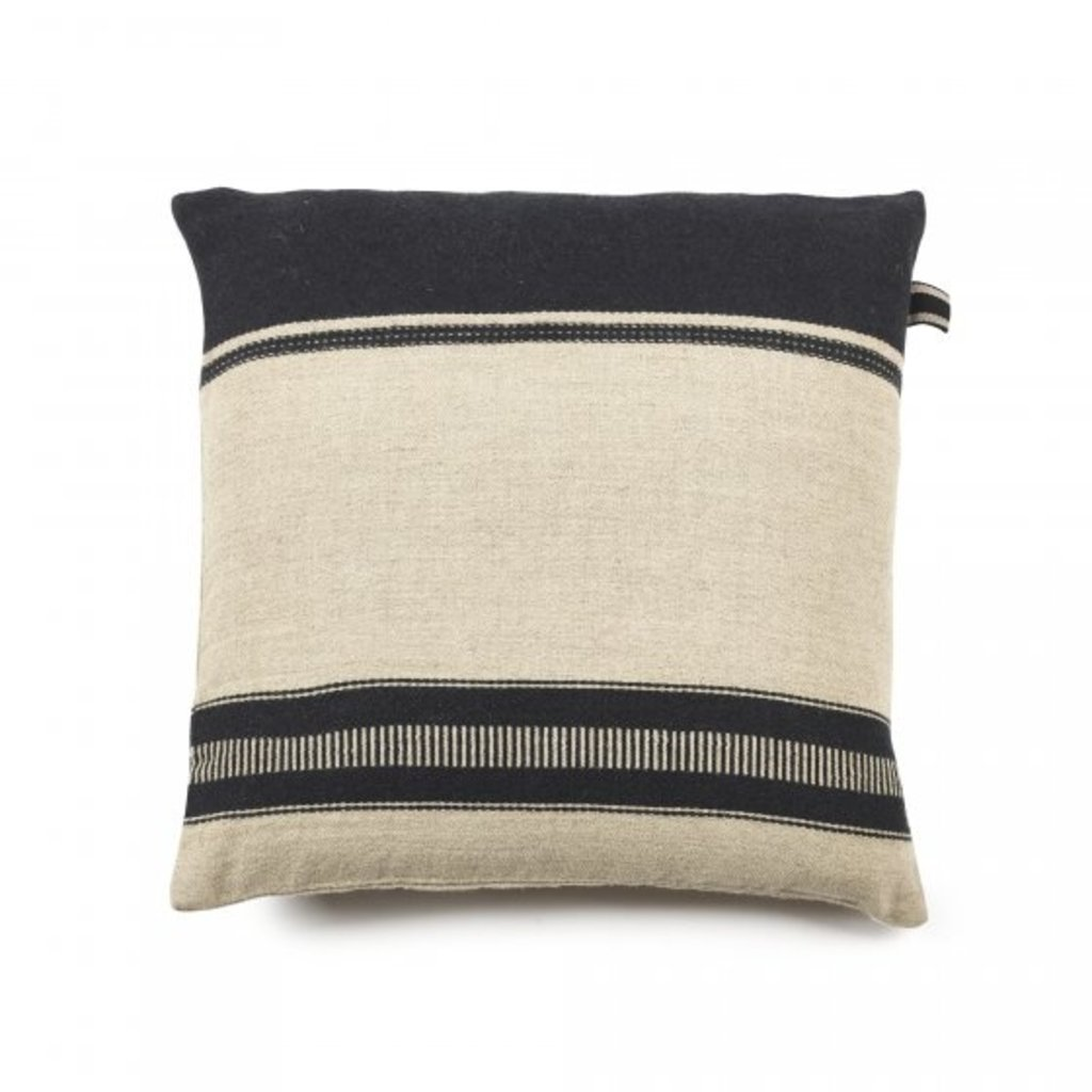 "Libeco 25""x25"" Linen Pillow Marshall Multi Stripe with insert"