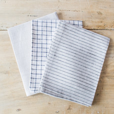 Fog Linen Linen Kitchen Towel in Plaid