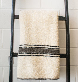 """Uniquity/ MC America Riverton/10 Cream and Black Stripe 78""""x55"""""""