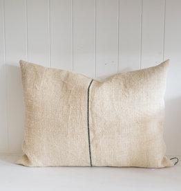 """22"""" x 16"""" Antique Linen Grain Sack Pillow w/ insert"""