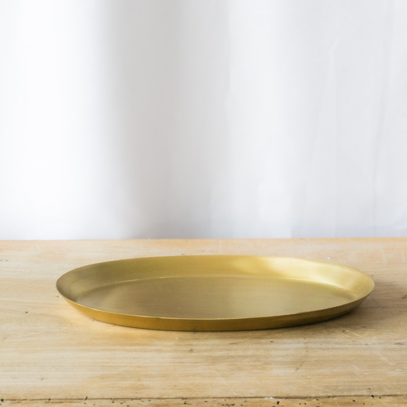 Fog Linen Brass Oval Tray, Small