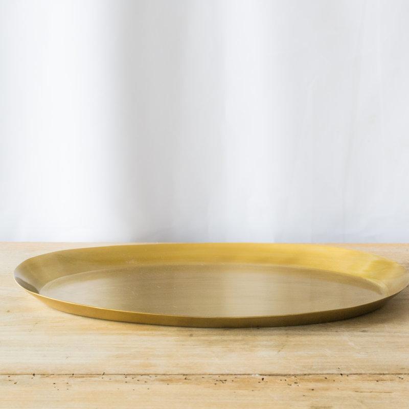 Fog Linen Brass Oval Tray, Medium