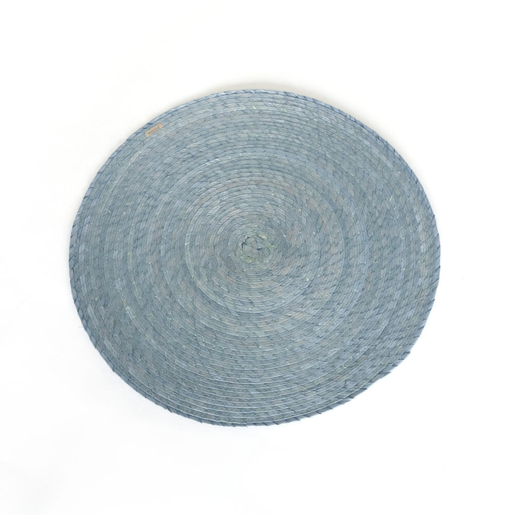 Round Palm Placemat, Blue