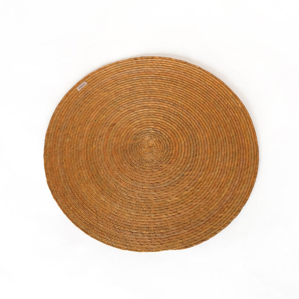 Round Palm Placemat, Umber