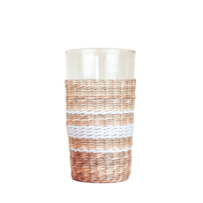 Seagrass Cage Highball with White Stripe