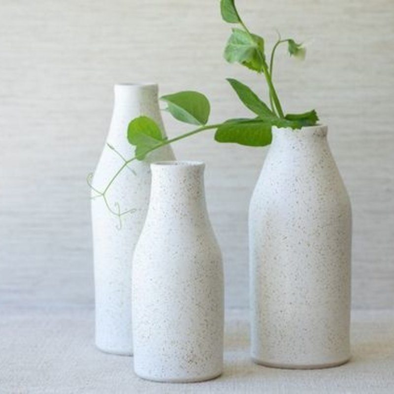 Amanda Wright Wide Mouth Bottle Freckled White