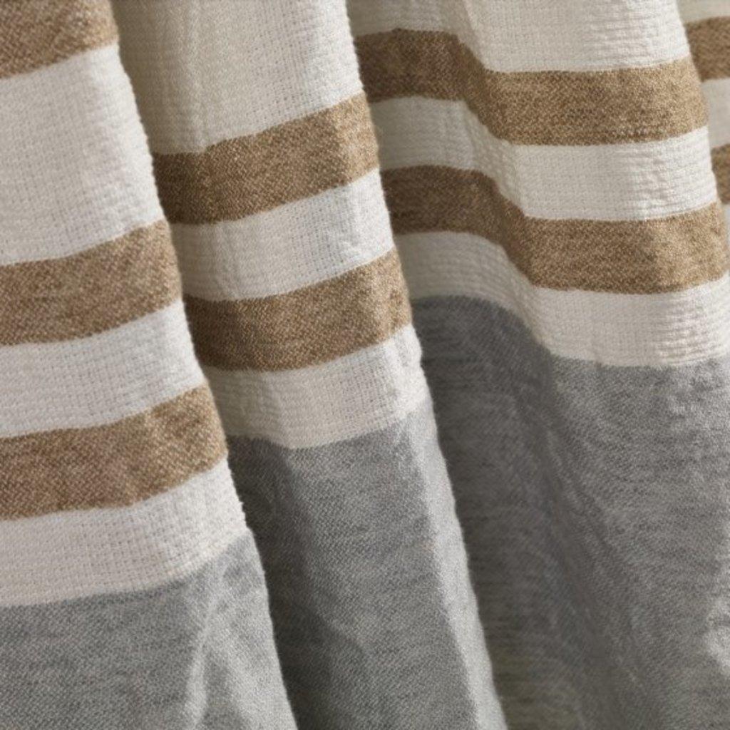 Libeco Belgian Guest Towel Ash Stripe