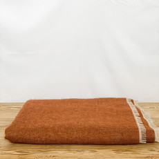 Bahia Linen and Wool Throw in Rust, Color #29
