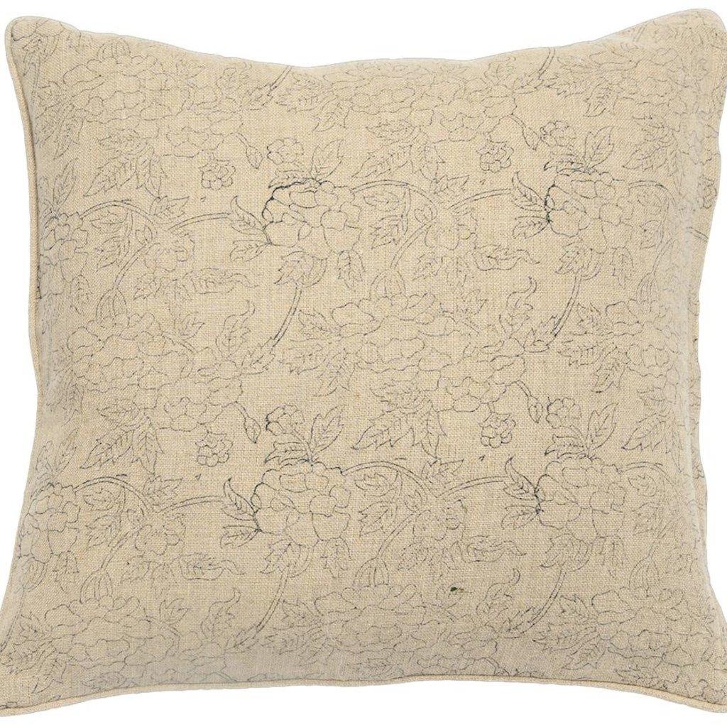 Marceline Noir on Natural pillow /Insert