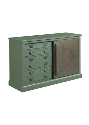 Hammary Green Sliding Door Console