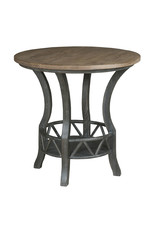 Kincaid Kincaid Trails Pisgah Round Lamp Table in Charred (813-916C)