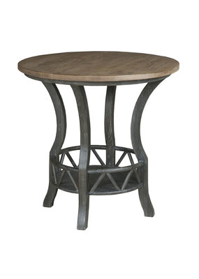 Kincaid Pisgah Round Lamp Table (Charred)