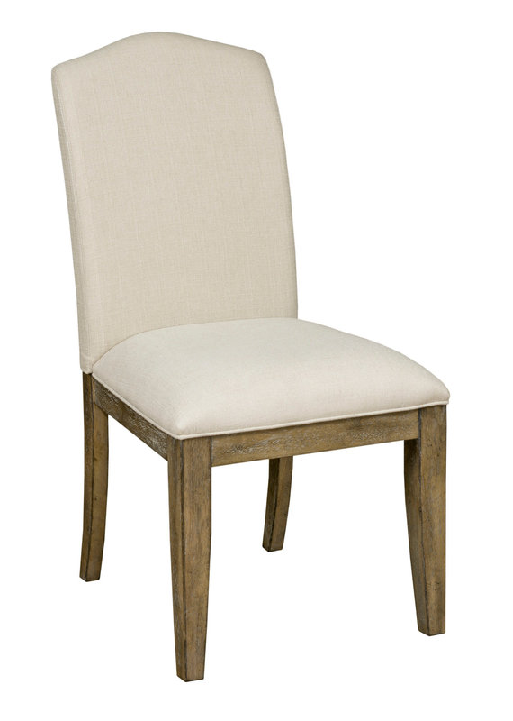 Kincaid Parson Upholstered Side Chair in Brushed Oak