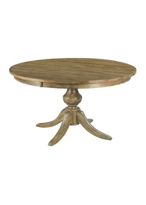 "Kincaid The Nook 54"" Round Dining Table with Wood Base (Brushed Oak)"