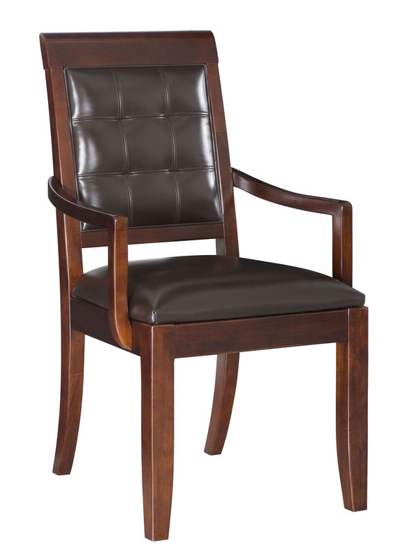 American Drew Tribecca Leather Back Arm Chair