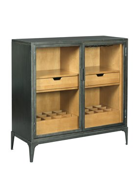 Hammary Hidden Treasures Metal Hall Cabinet/Bar