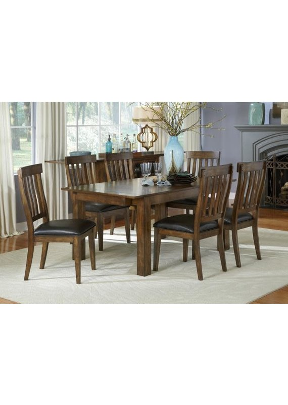 A-America Mariposa Slat Back Side Chair (Rustic Whiskey)