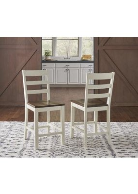 A-America Sun Valley Ladderback Stool (White)