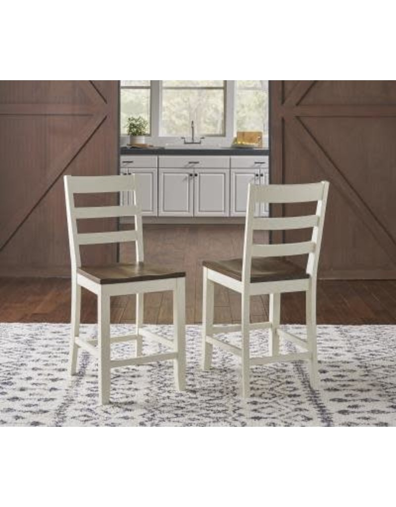 A-America A-America Sun Valley Ladderback Stool in White (SUV-WR-3-55-K)