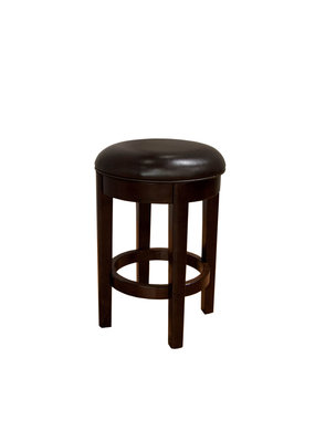 A-America Parson Chairs Swivel Counter Stool (Brown) (24'')