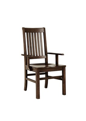 Simply Dining Roll Top Arm Chair (Dark Maple)