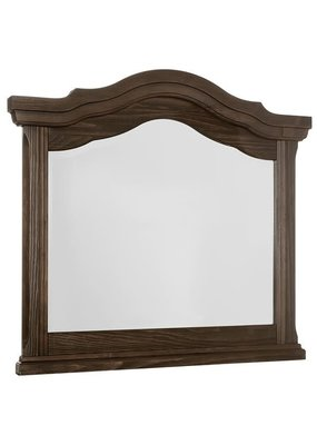 Rustic Hills Arched Landscape Mirror (Coffee)