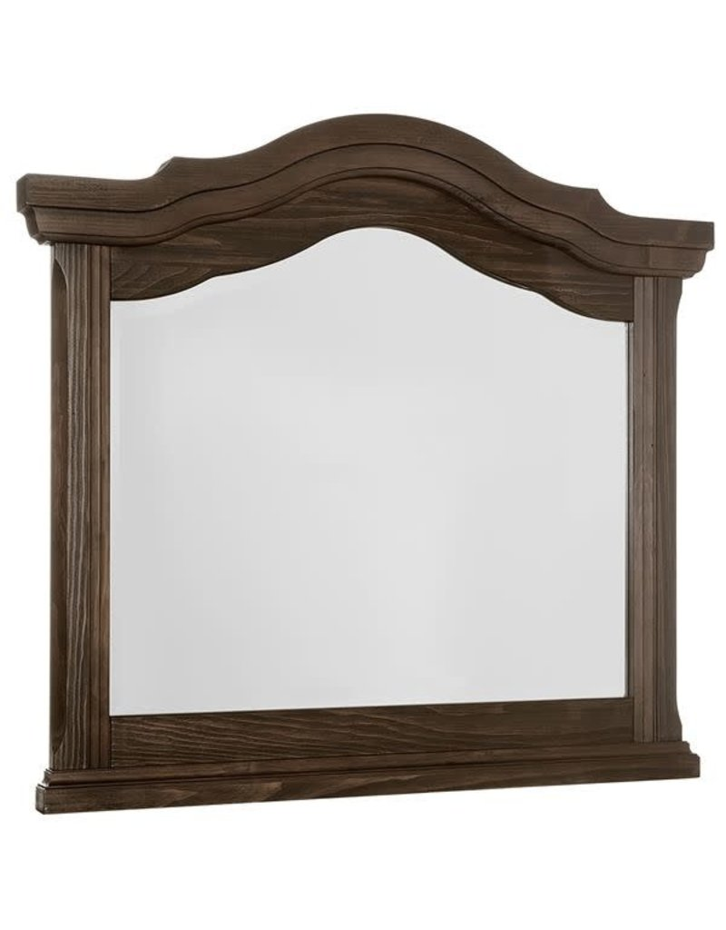 Vaughan Bassett Rustic Hills Arched Landscape Mirror in Coffee (680-446)