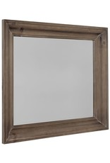 Vaughan Bassett Rustic Hills  Shadowbox Mirror in Saddle Grey (682-445)