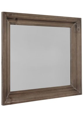 Rustic Hills Shadowbox Mirror (Saddle Grey)