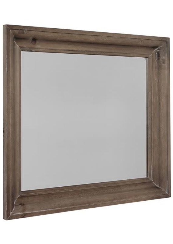 Rustic Hills Shadowbox Mirror (Saddle Grey)