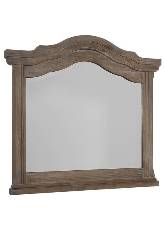 Vaughan Bassett Rustic Hills Arched Landscape Mirror (Saddle Grey)